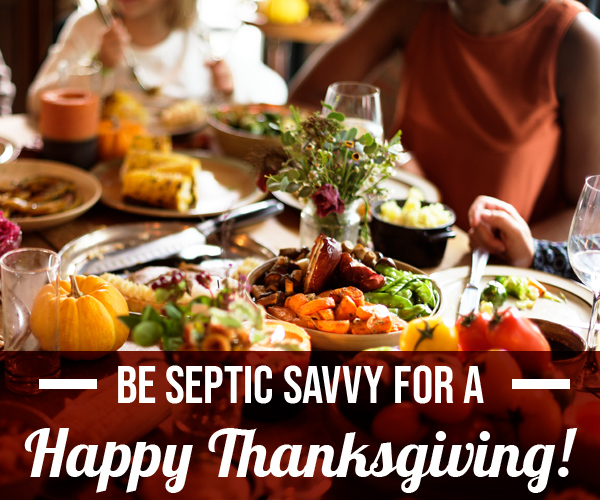 Septic system tips for thanksgiving